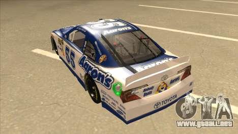 Toyota Camry NASCAR No. 55 Aarons DM white-blue para GTA San Andreas vista hacia atrás