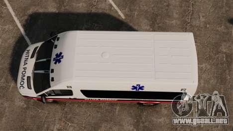 Mercedes-Benz Sprinter Zagreb Ambulance [ELS] para GTA 4 visión correcta