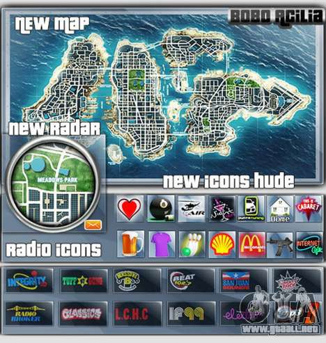 Map-Radar-HUD Pack para GTA 4