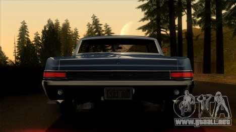 Pontiac Tempest LeMans GTO Hardtop Coupe 1965 para visión interna GTA San Andreas