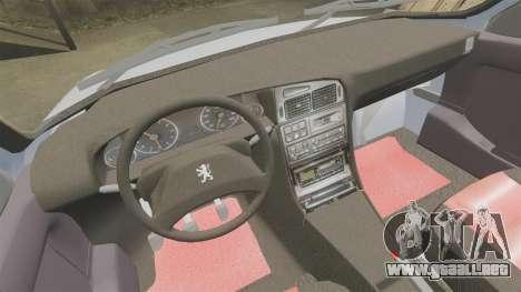 Peugeot 405 GLX Final para GTA 4 vista interior