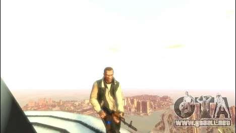 AK-47 para GTA 4 adelante de pantalla