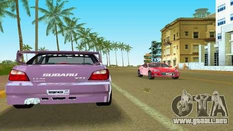 Subaru Impreza WRX v1.1 para GTA Vice City vista lateral