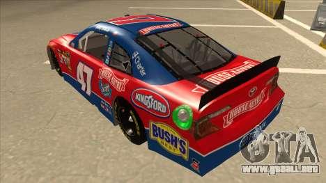 Toyota Camry NASCAR No. 47 House-Autry para GTA San Andreas vista hacia atrás