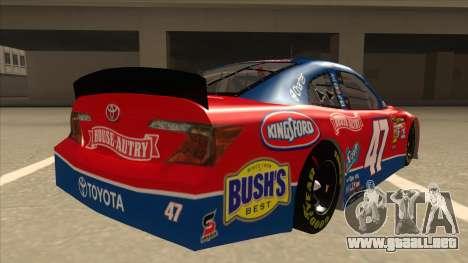 Toyota Camry NASCAR No. 47 House-Autry para la visión correcta GTA San Andreas