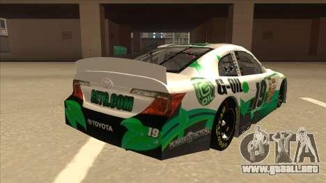 Toyota Camry NASCAR No. 19 G-Oil para la visión correcta GTA San Andreas