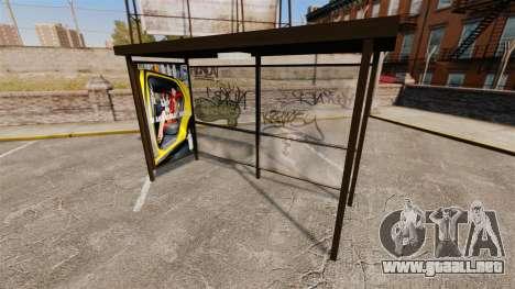 Publicidad real en las paradas de autobús para GTA 4 quinta pantalla