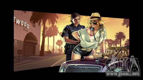 GTA V for IV LoadingScreens para GTA 4 adelante de pantalla