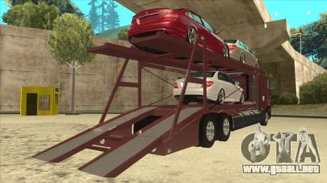 International 9700 Car Hauler para la visión correcta GTA San Andreas