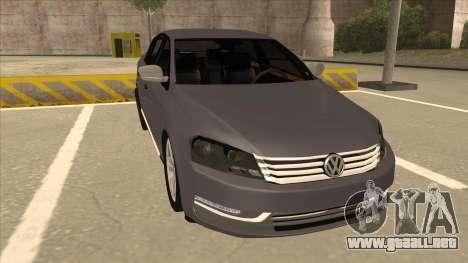 Volkswagen Passat 2.0 Turbo para GTA San Andreas left