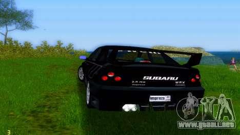 Subaru Impreza WRX v1.1 para GTA Vice City visión correcta