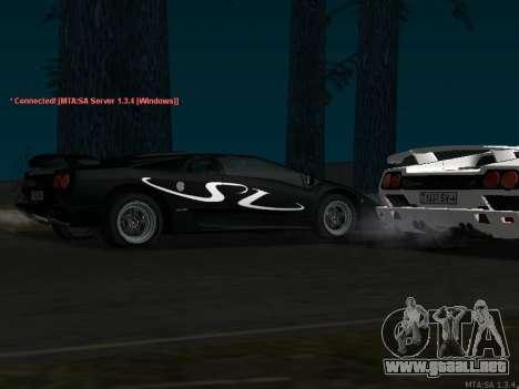 Lamborghini Diablo SV v2 para GTA San Andreas vista posterior izquierda
