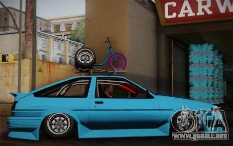 Toyota Corolla AE86 Helladrift para la visión correcta GTA San Andreas