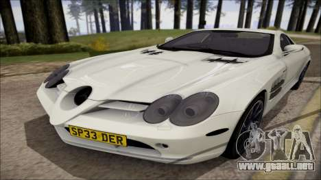 Mercedes-Benz SLR Mclaren para GTA San Andreas left