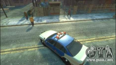 Policía del GTA 5 para GTA 4 vista hacia atrás