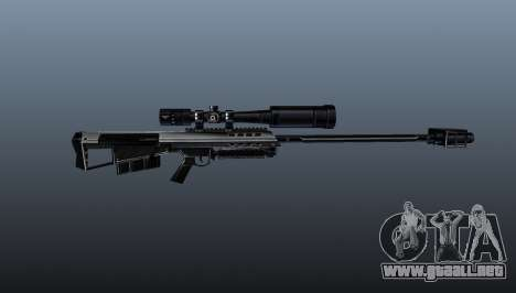 Rifle de francotirador Barrett M95 para GTA 4 tercera pantalla