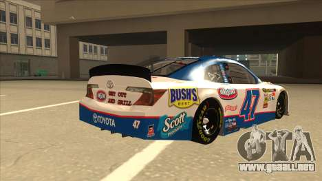 Toyota Camry NASCAR No. 47 Kingsford para la visión correcta GTA San Andreas
