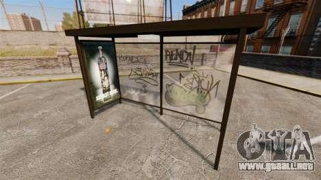 Publicidad real en las paradas de autobús para GTA 4 tercera pantalla