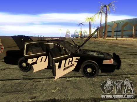 Ford Crown Victoria Police Interceptor para GTA San Andreas vista hacia atrás