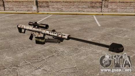 El francotirador Barrett M82 rifle v5 para GTA 4