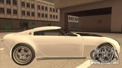Melling Hellcat para GTA San Andreas vista posterior izquierda