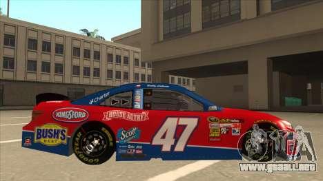 Toyota Camry NASCAR No. 47 House-Autry para GTA San Andreas vista posterior izquierda