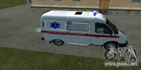 Ambulancia 22172 del GAS para GTA San Andreas left