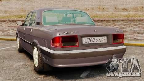 Volga GAZ-3110 para GTA 4 Vista posterior izquierda