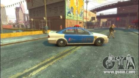 Policía del GTA 5 para GTA 4 Vista posterior izquierda