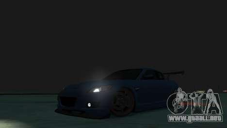 Mazda RX-8 R3 para GTA 4 vista interior