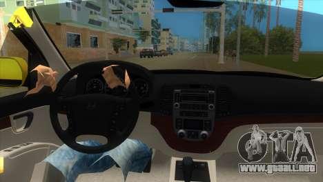 Hyundai Santa Fe 2006 para GTA Vice City visión correcta