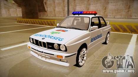 BMW M3 E30 Rendőrség para GTA San Andreas