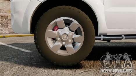 Toyota Hilux Croatian Police v2.0 [ELS] para GTA 4 vista hacia atrás