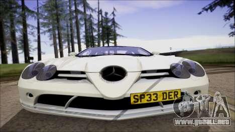 Mercedes-Benz SLR Mclaren para GTA San Andreas vista posterior izquierda