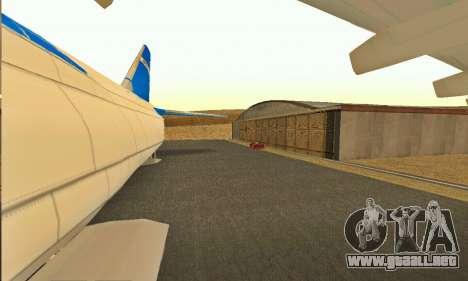 Andromada GTA V para GTA San Andreas vista hacia atrás
