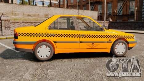 Peugeot 405 GLX Taxi para GTA 4 left