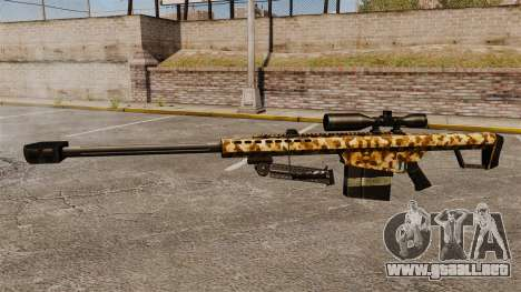 El v10 de rifle de francotirador Barrett M82 para GTA 4 tercera pantalla