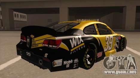 Chevrolet SS NASCAR No. 39  Wix Filters para la visión correcta GTA San Andreas