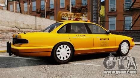Taxi con nuevo disco v2 para GTA 4 left