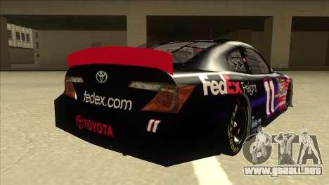 Toyota Camry NASCAR No. 11 FedEx Freight para la visión correcta GTA San Andreas