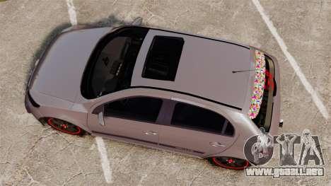Volkswagen Gol Rally 2012 Socado Turbo para GTA 4 visión correcta