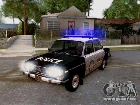 Policía de Los Santos 2106 VAZ para vista lateral GTA San Andreas