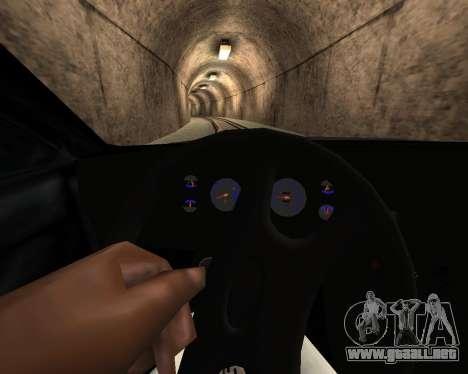 Entonado Premier V2 para GTA San Andreas vista hacia atrás