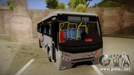 Marcopolo Senior Midi MB OF 1418 Cidade Morena para GTA San Andreas left