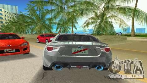 Subaru BRZ Type 3 para GTA Vice City visión correcta