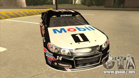 Chevrolet SS NASCAR No. 14 Mobil 1 Tracker Boats para GTA San Andreas left