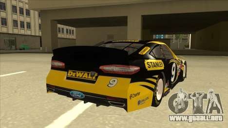 Ford Fusion NASCAR No. 9 Stanley DeWalt para la visión correcta GTA San Andreas