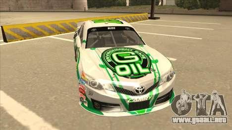 Toyota Camry NASCAR No. 19 G-Oil para GTA San Andreas left