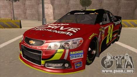 Chevrolet SS NASCAR No. 24 AARP para GTA San Andreas