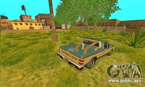 Armadura todoterreno Bobcat para GTA San Andreas vista posterior izquierda